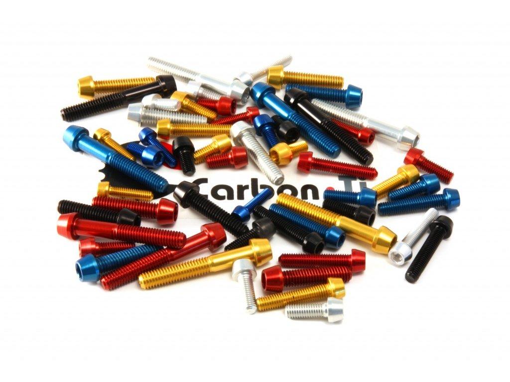 Carbon-Ti Tapered Head Al7075 M6x20