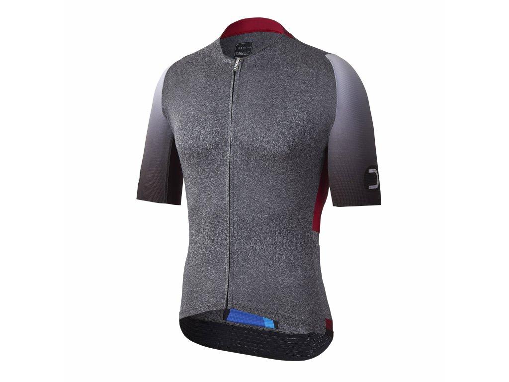 Pánský cyklistický dres Dotout Vertical Jersey Melange Light Grey