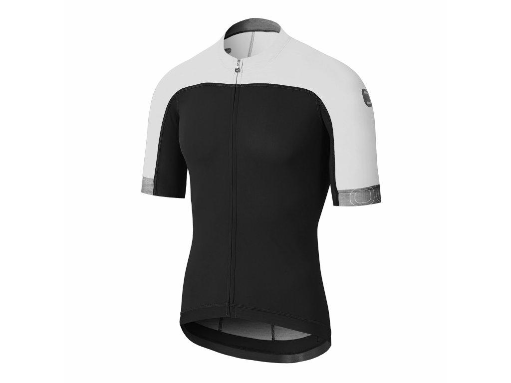 Pánský cyklistický dres Dotout Skin Jersey Black/White