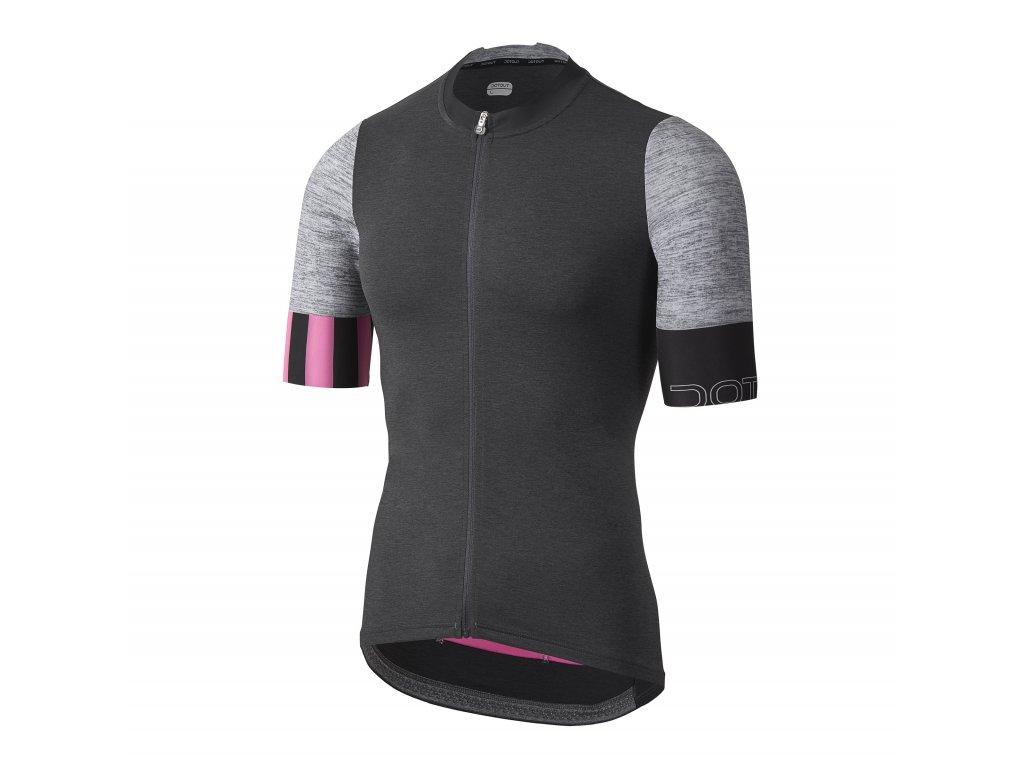 Pánský cyklistický dres Dotout Live Jersey Melange Dark Grey