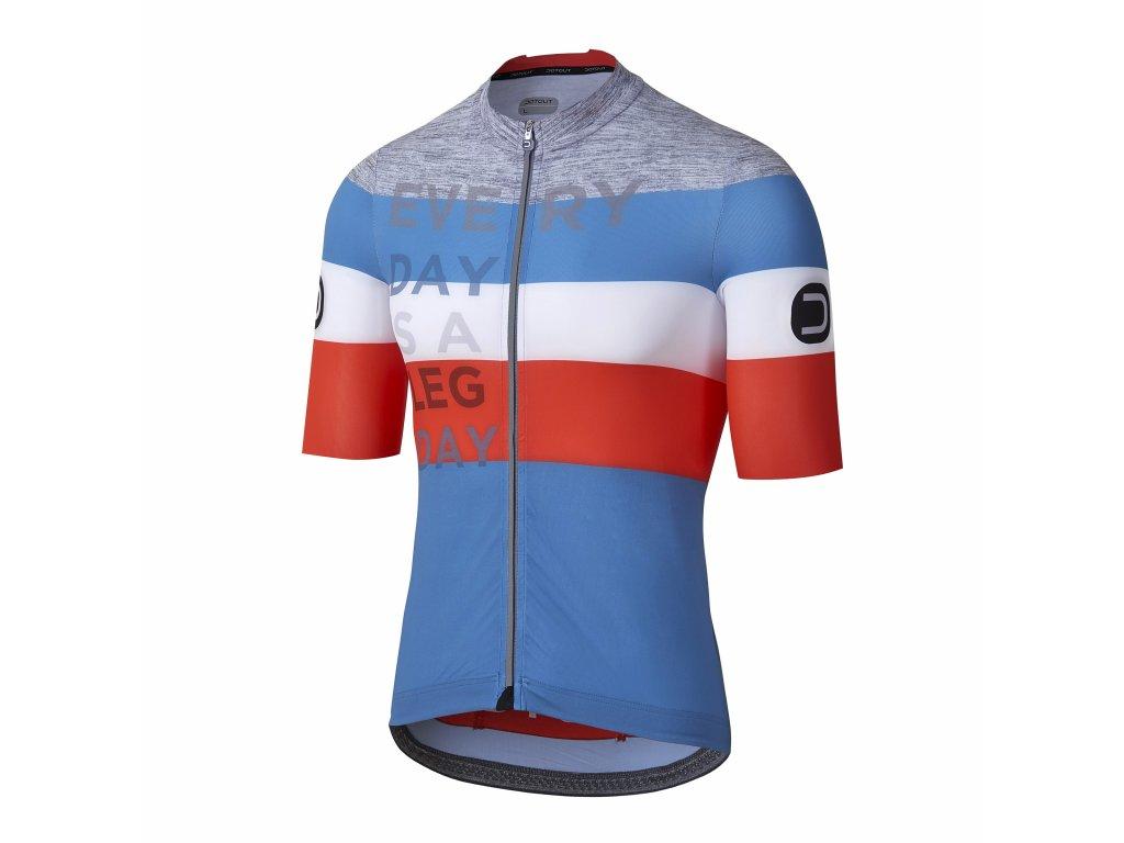 Pánský cyklistický dres Dotout Combact Jersey Avio/Orange/Melange