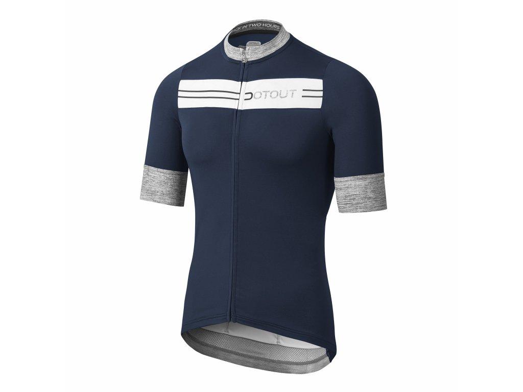 Pánský cyklistický dres Dotout Stripe Jersey Blue/White