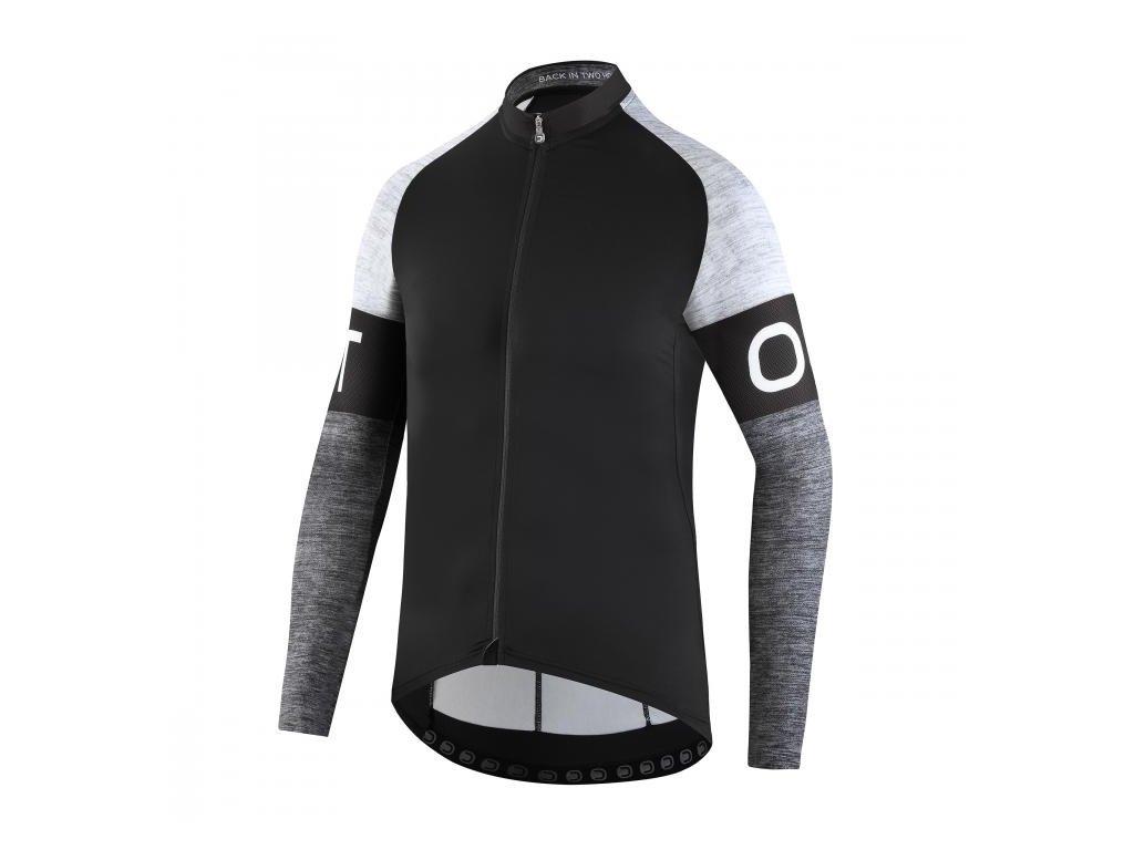 Pánský cyklistický dres Dotout Block Long Sleeve Jersey Black