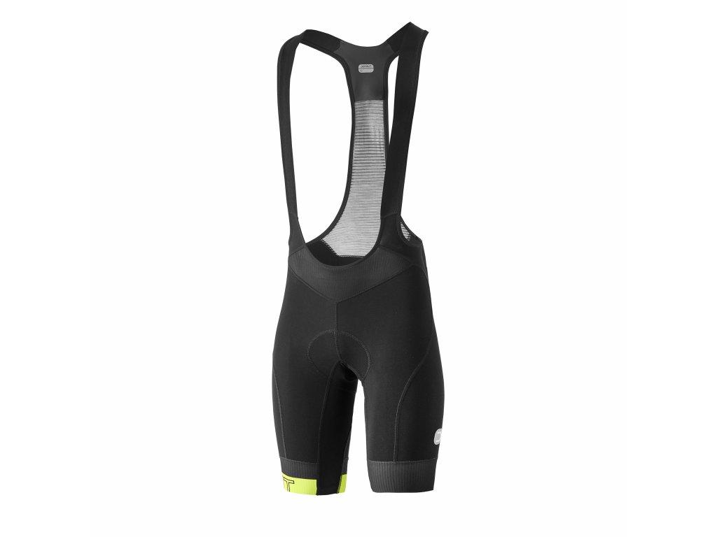 Pánské cyklistické kalhoty Dotout Icon Bib Short Black/Lime