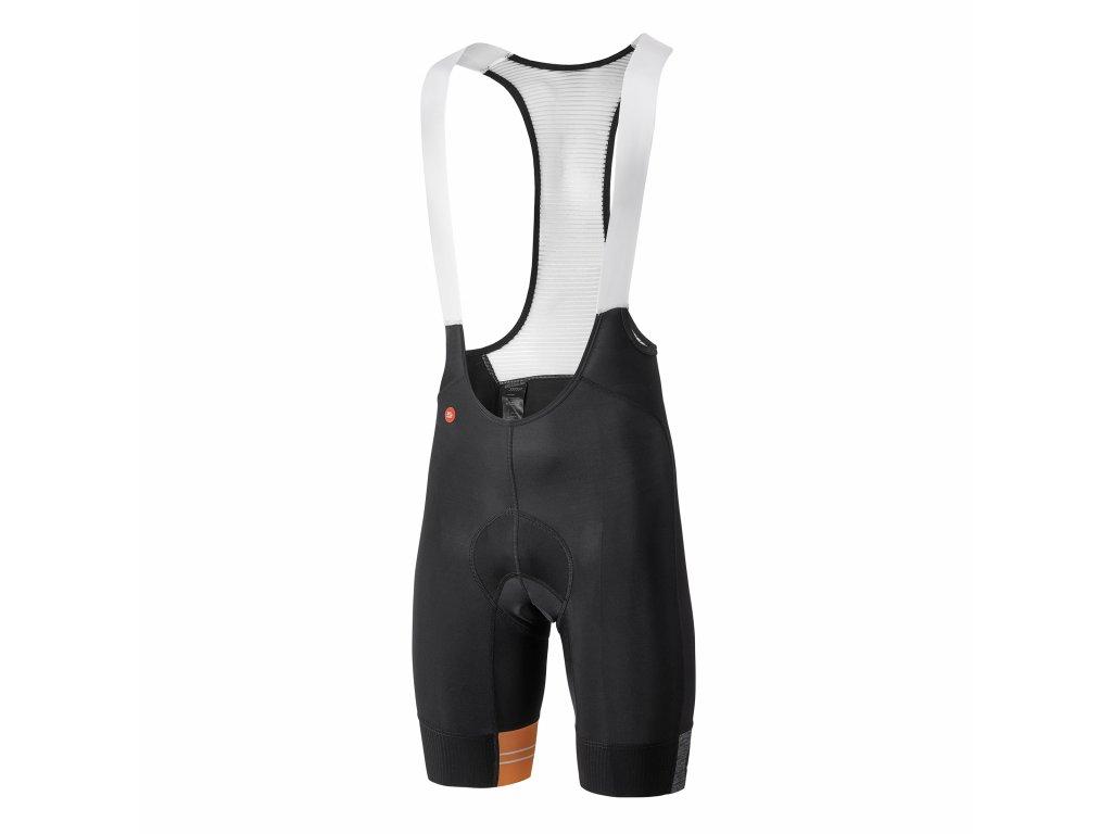 Pánské cyklistické kalhoty Dotout Team Bib Short Black/Fluo Orange