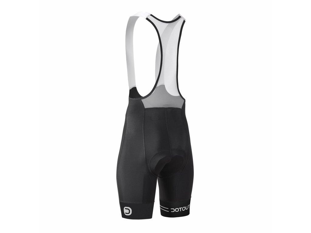 Pánské cyklistické kalhoty Dotout Team Bib Short Black/Fluo Orange Black/Black A20M311-915
