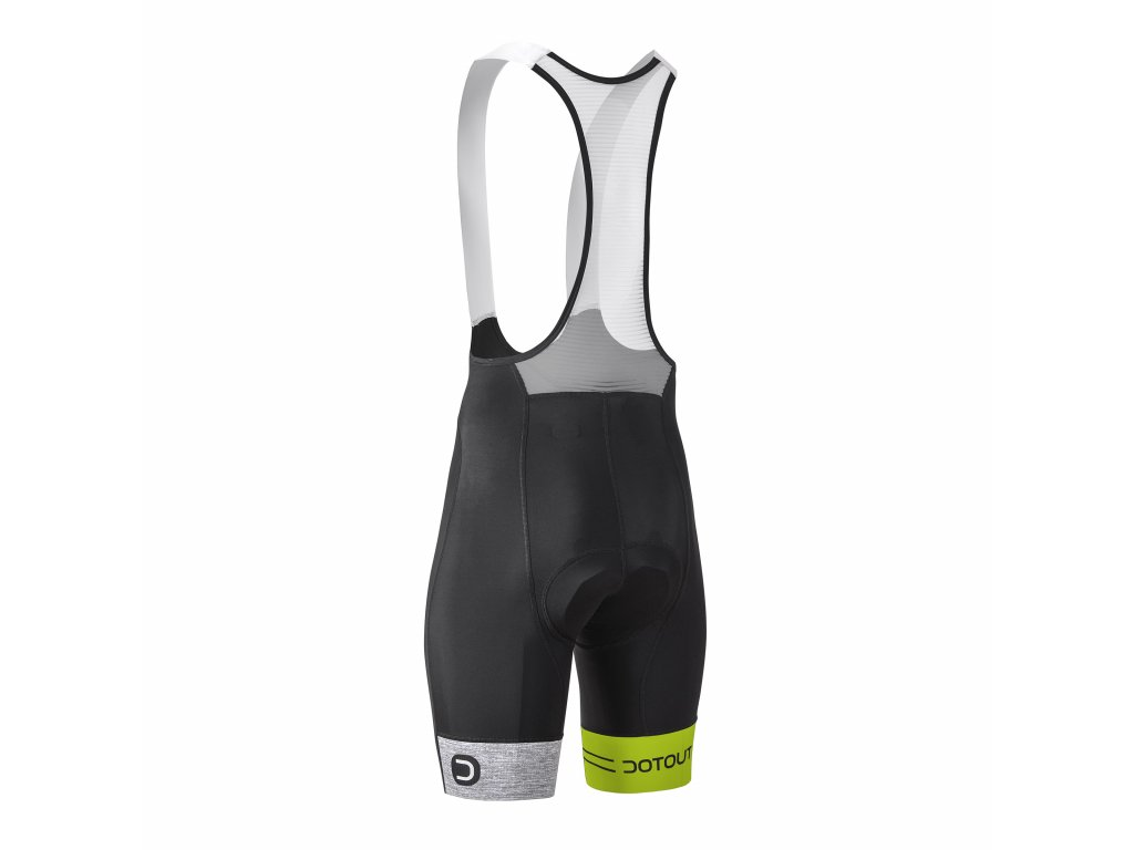 Pánské cyklistické kalhoty Dotout Team Bib Short Black/Lime