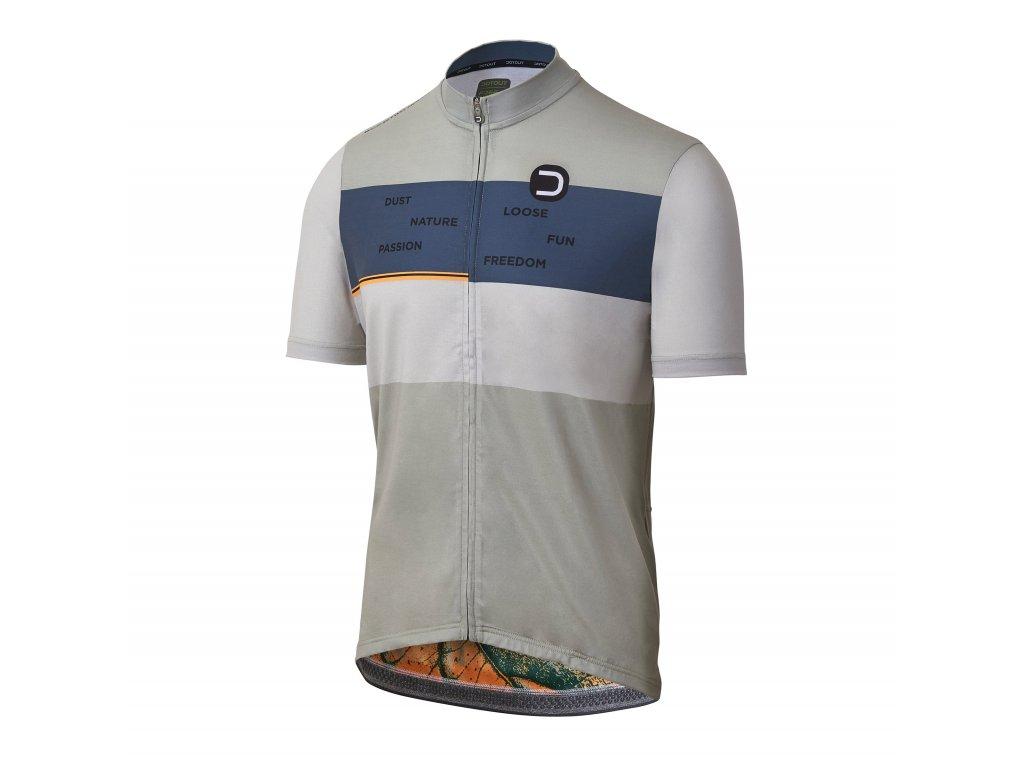 Cyklistické tričko Dotout Cruiser Jersey Light Grey