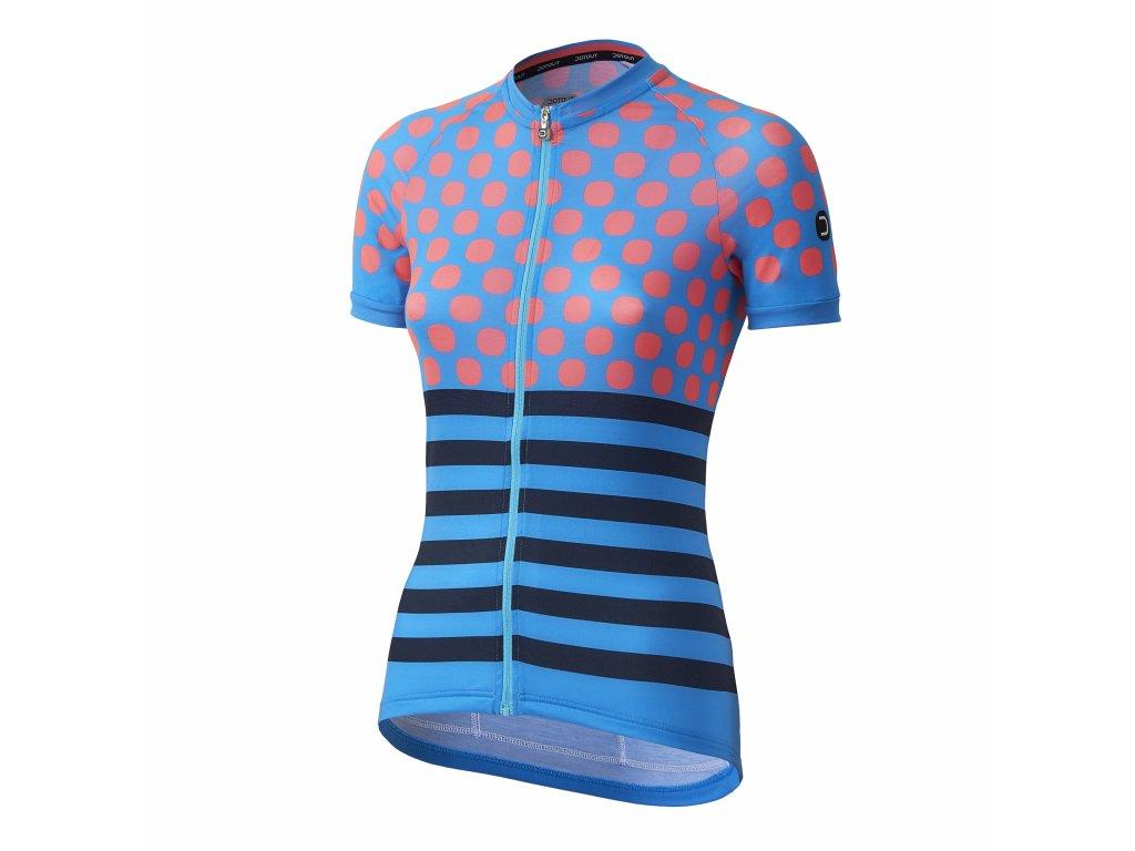 Dámský cyklistický dres Dotout Up W Jersey - light blue/light pink/blue