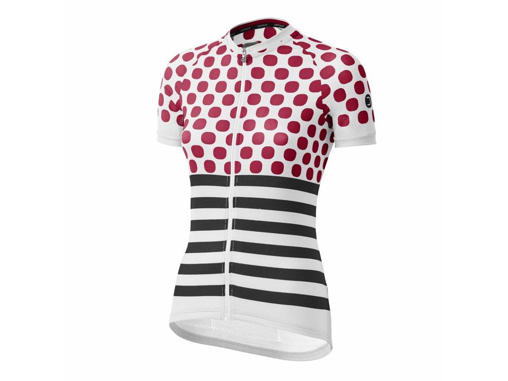 Dámský cyklistický dres Dotout Up W Jersey - light grey/cherry/black