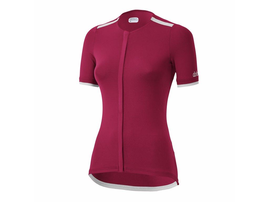 Dámský cyklistický dres Dotout Elite W Jersey - Cherry White