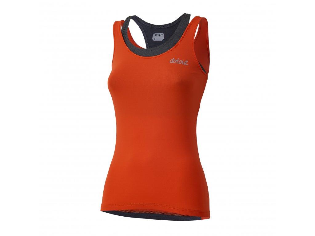 Dámský cyklistický dres Dotout Elite W Top - Orange