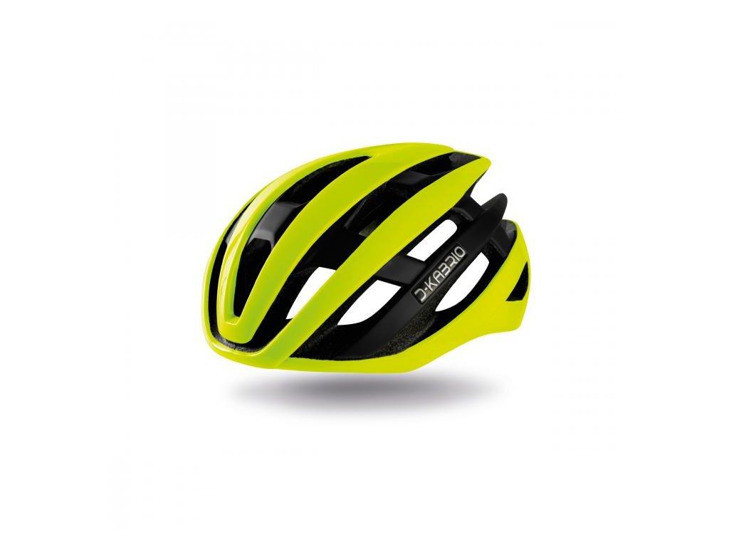 Cyklistická přilba Dotout Kabrio -  Shiny Yellow Fluo