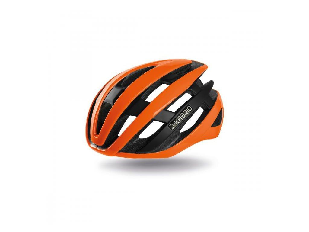 Cyklistická přilba Dotout Kabrio -  Shiny Orange Fluo