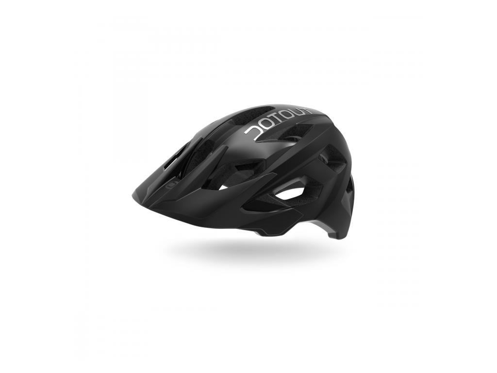 Cyklistická přilba Dotout Hammer - Matt Black/Shiny Black