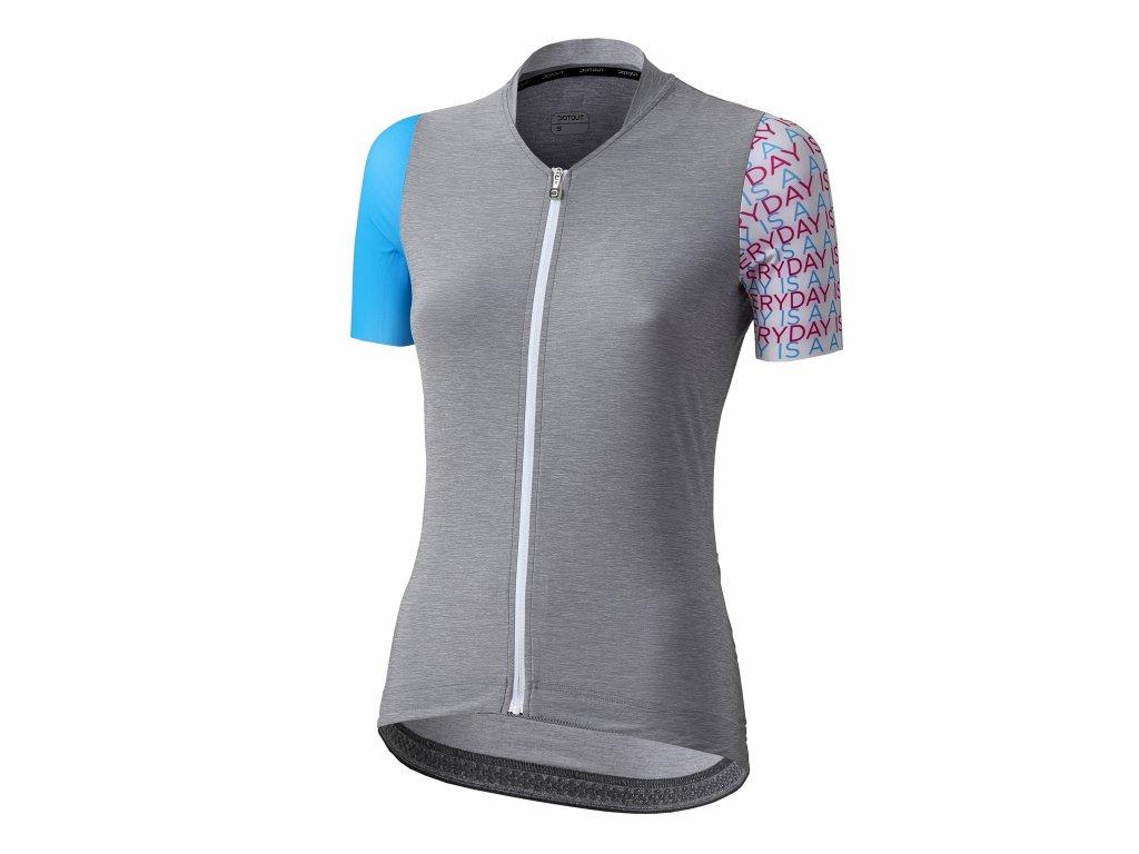 Dámský cyklistický dres Dotout Liberty - Melange Light Grey