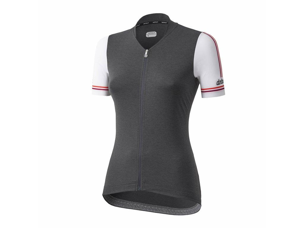Dámský cyklistický dres Dotout Path - Melange Dark Grey