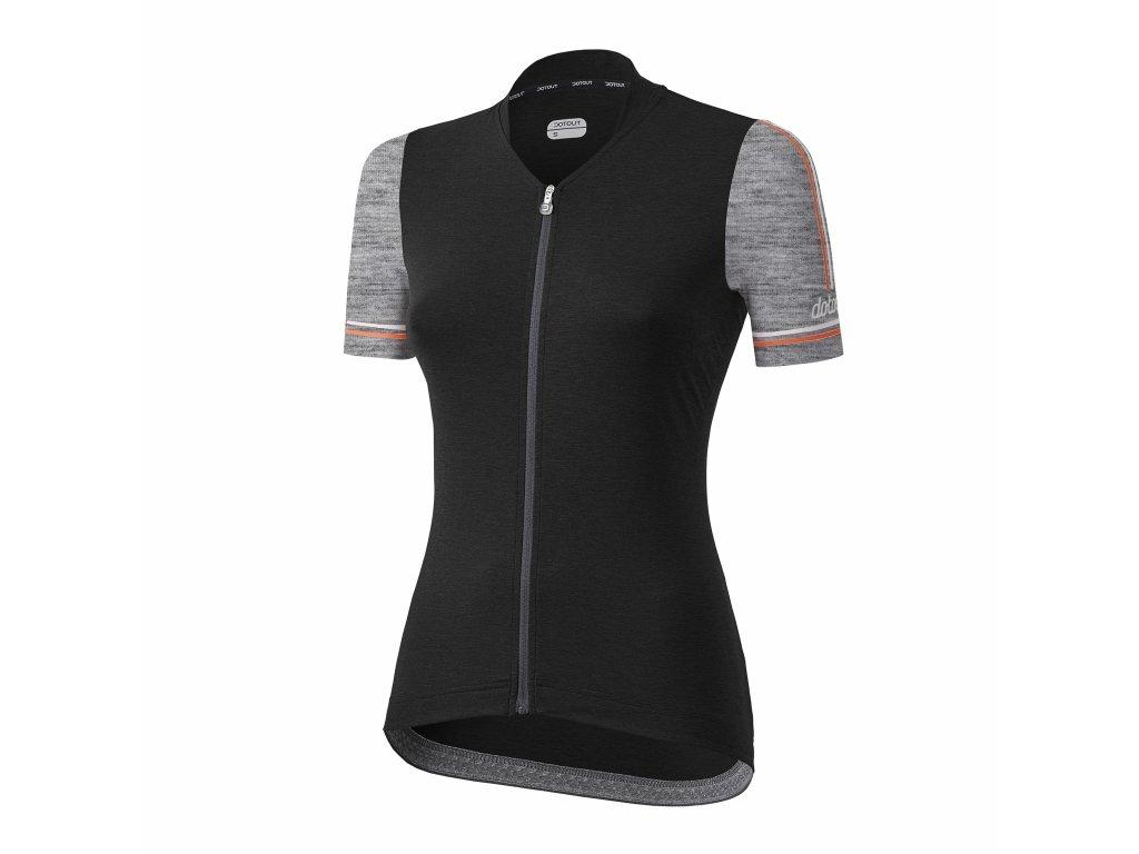 Dámský cyklistický dres Dotout Path - Black