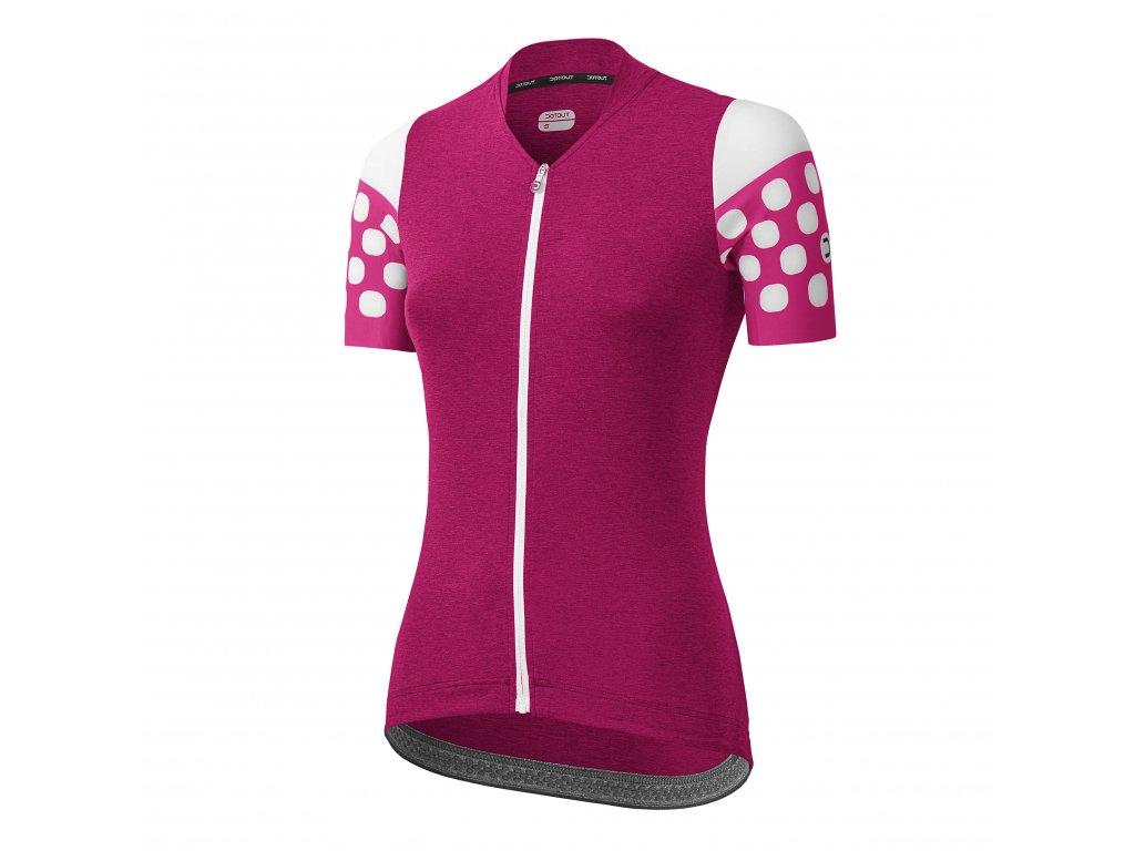 Dámský cyklistický dres Dotout Touch - Melange Violet