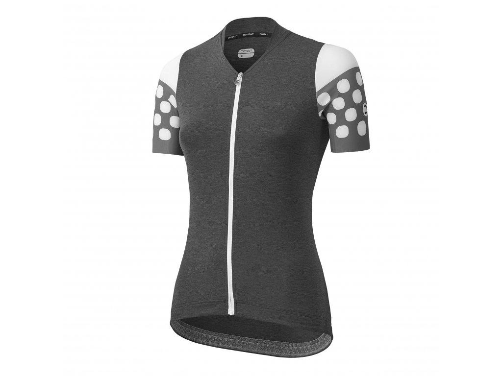Dámský cyklistický dres Dotout Touch - Melange Dark Grey