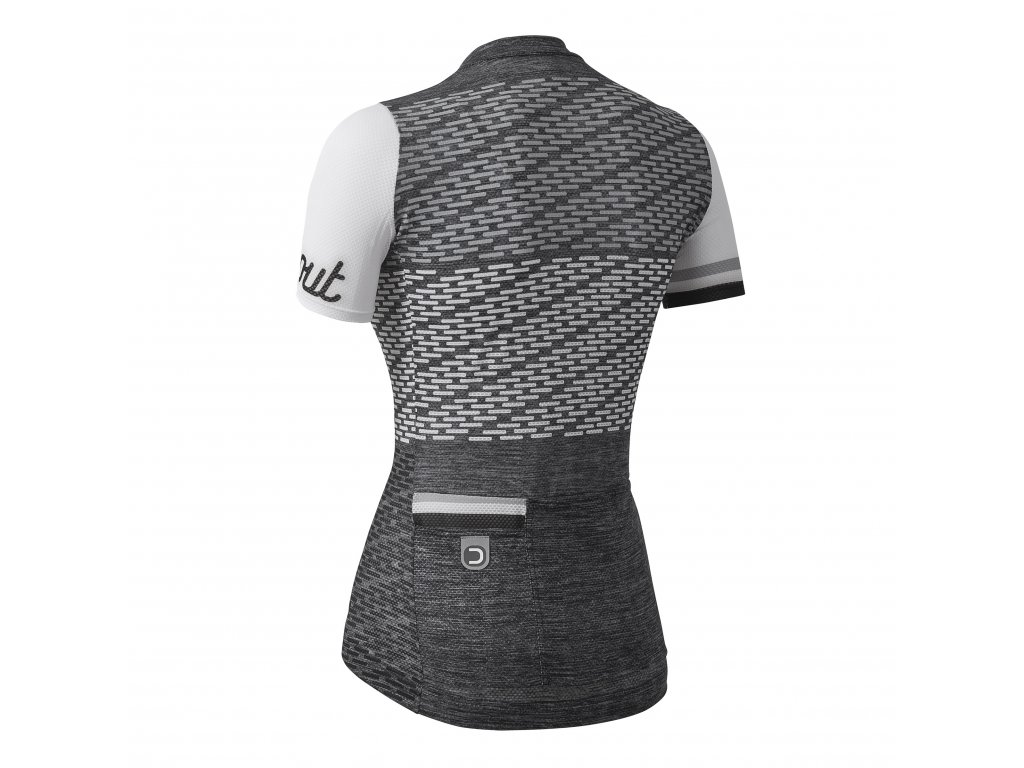 Dámský cyklistický dres Dotout Flash - Melange Dark Grey