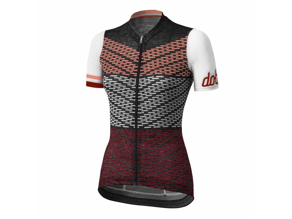 Dámský cyklistický dres Dotout Flash - Black