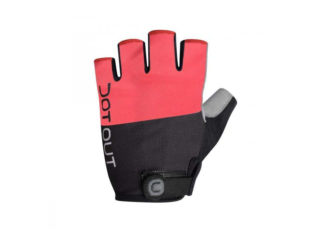 Rukavice Dotout Pin Glove Red/Melange Light Grey A16x001-383