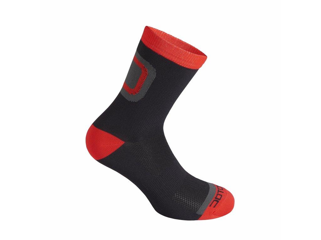 Ponožky Dotout Logo Socks Black/Red A15x112-903