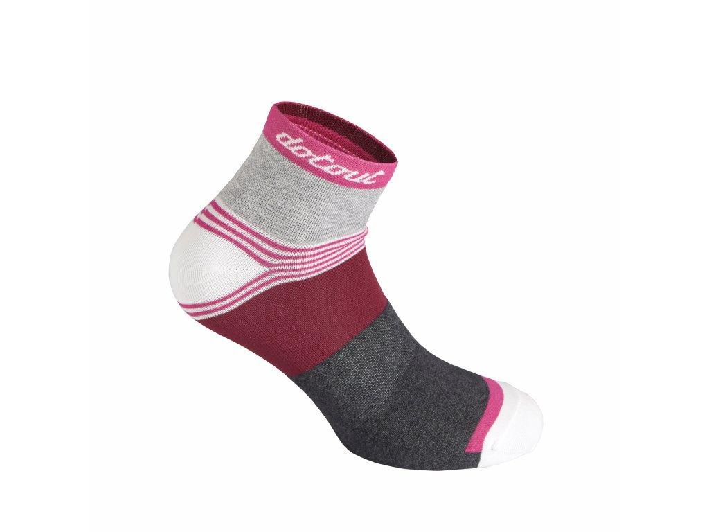 Ponožky Dotout Stripe W Socks Fuchsia A20x160-400