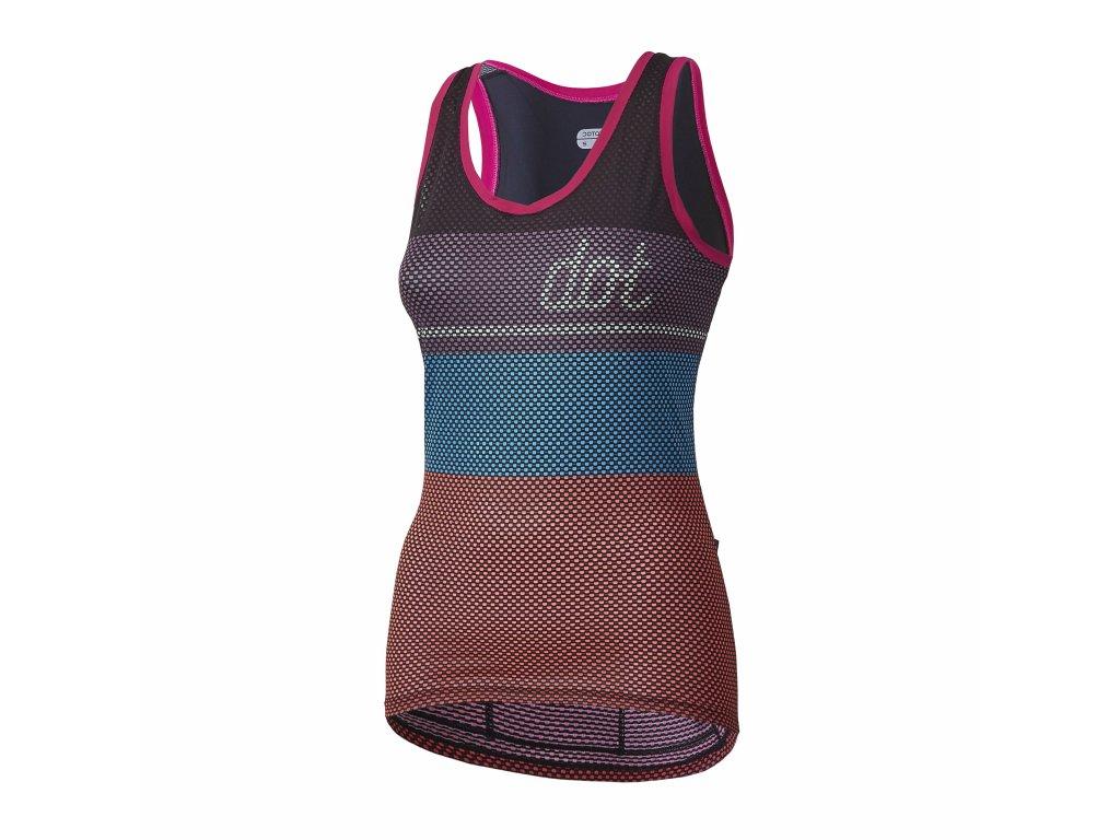 Dámský cyklistický dres Dotout Glory W Top - Bordeaux/Violet/Blue