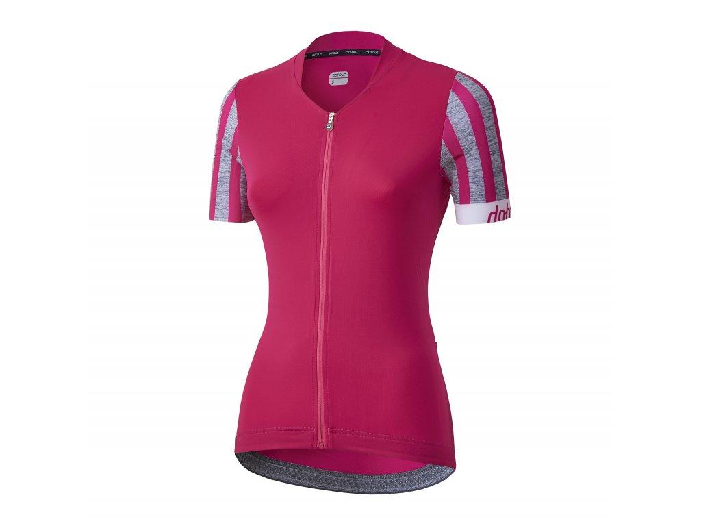 Dámský cyklistický dres Dotout Oxygen W Jersey - Fuchsia