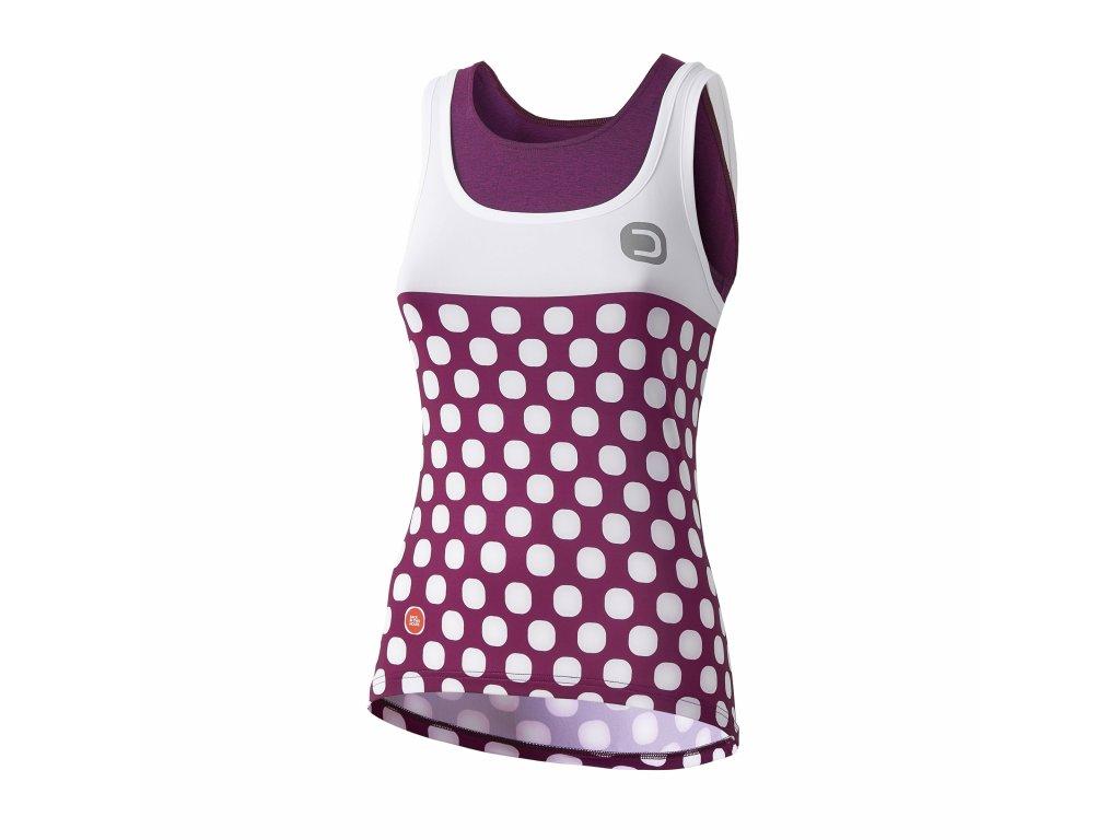 Dámský cyklistický dres Dotout Dots W Top - Violet/White