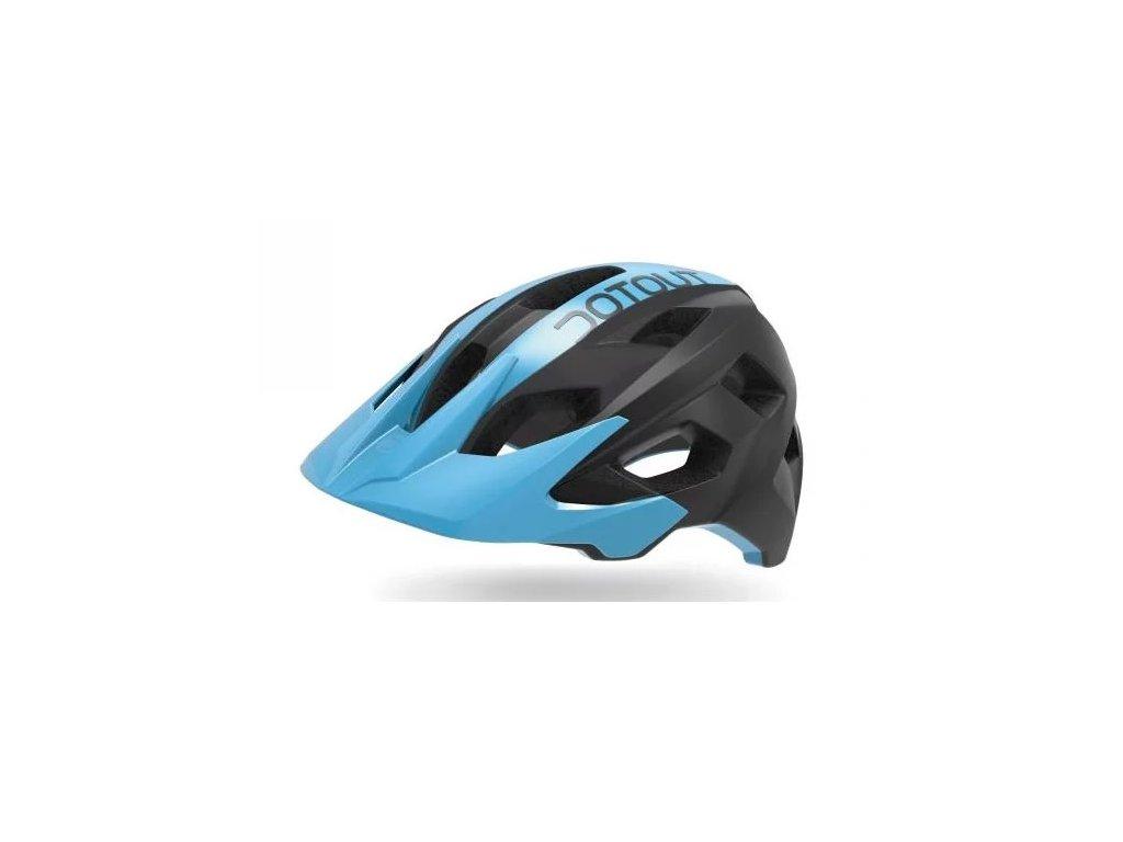 Cyklistická přilba Dotout Hammer - Matt Black/Shiny Blue - L/XL