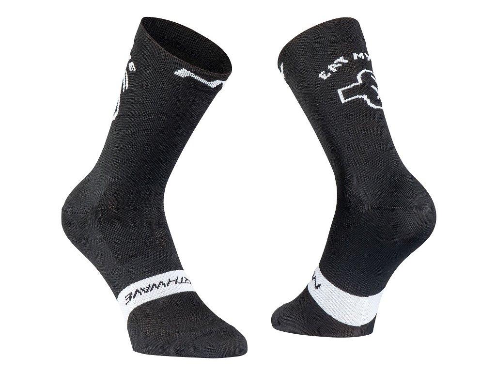 cyklisticke ponozky northwave eat my dust sock black 94122