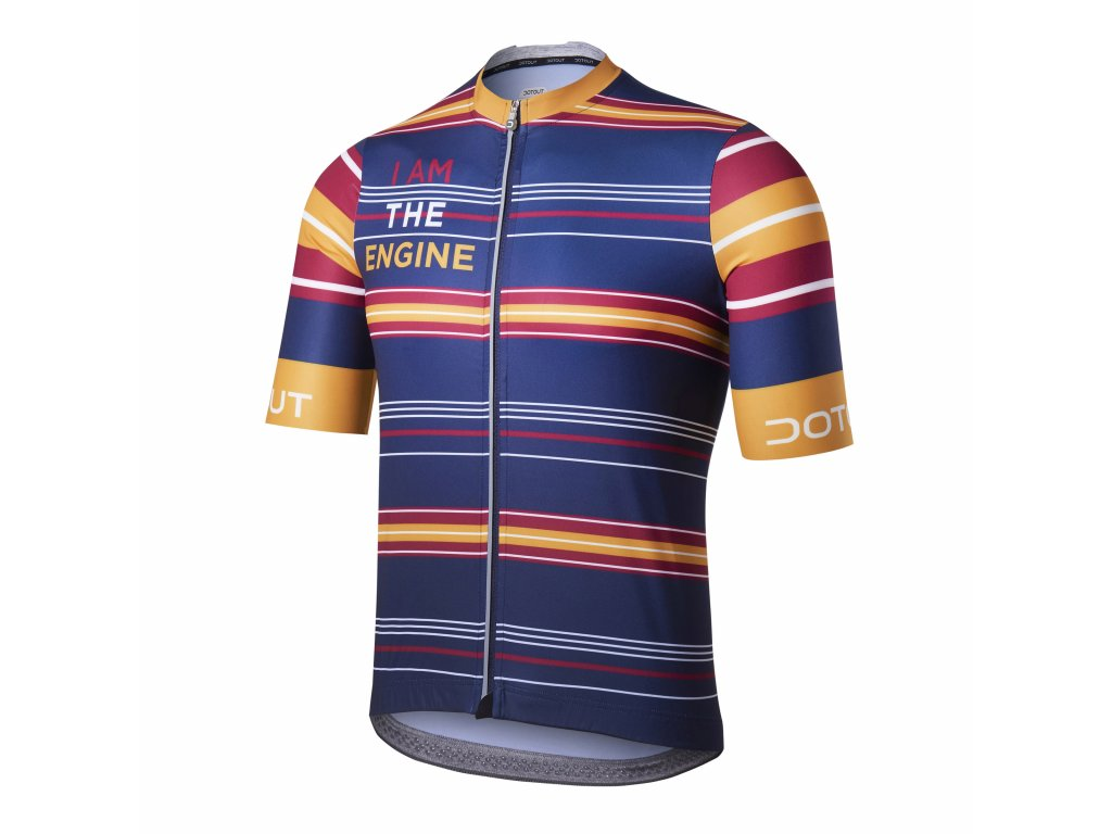 Cyklistický dres Dotout Cruiser Jersey - blue-yellow