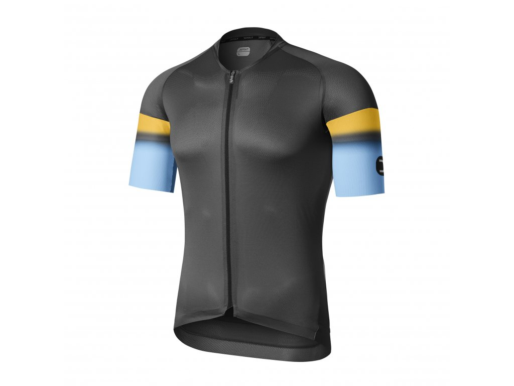 Cyklistický dres Dotout Aero Light Jersey - dark grey-light blue