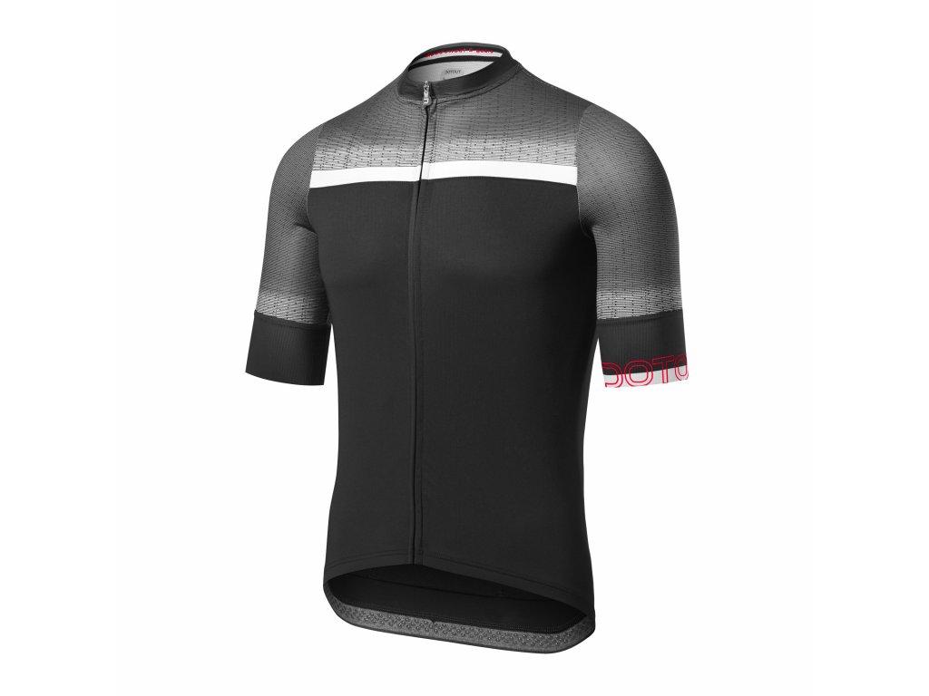 Cyklistický dres Dotout Rainbow Jersey - black-white