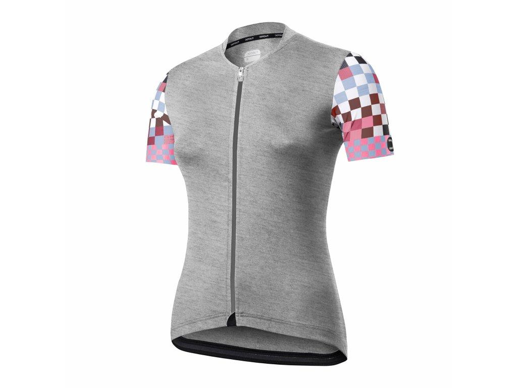 Dámský cyklistický dres Dotout Live W Jersey - melange light grey