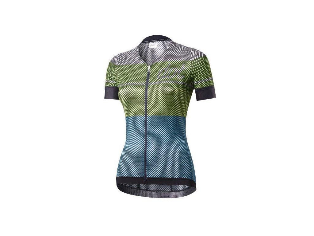 Dámský cyklistický dres Dotout Glory W Jersey - white-green-lime-light blue