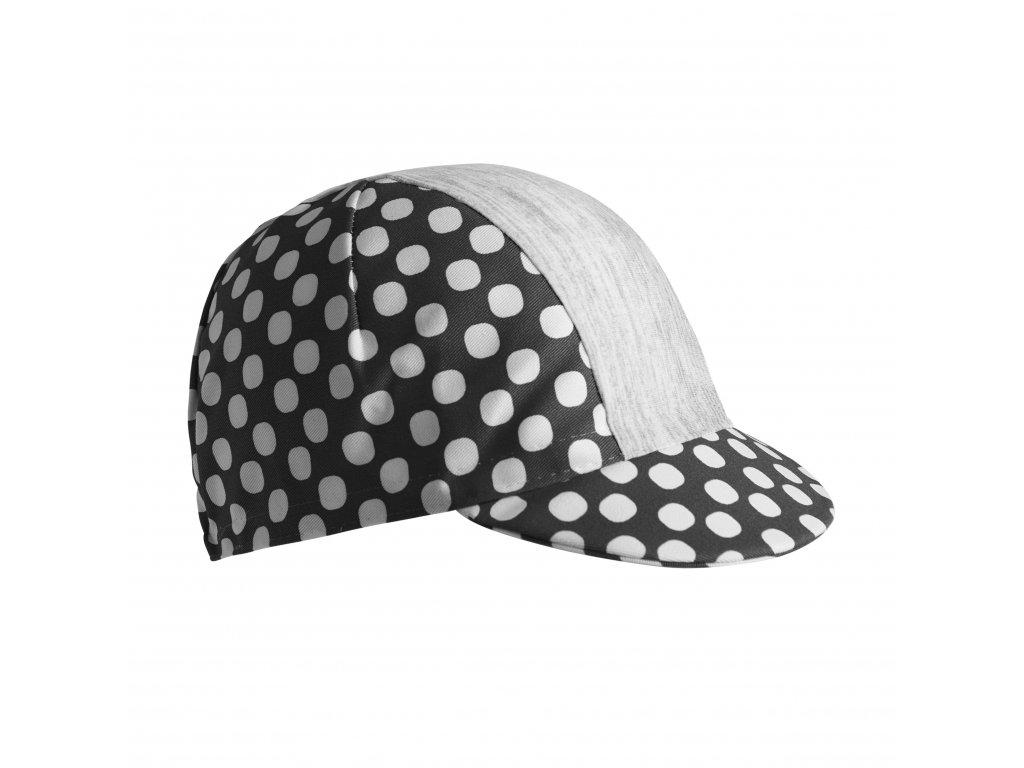 Dámská cyklistická čepička Dotout Dots W Cap - black-white