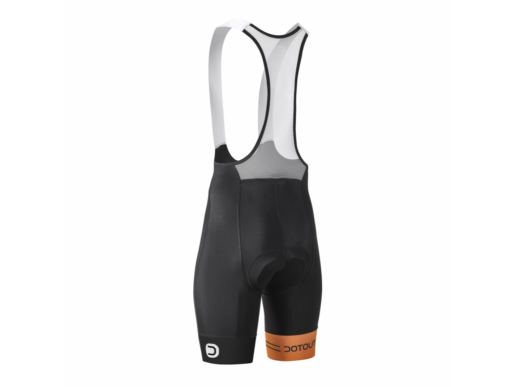 Cyklistické kalhoty Dotout Team Bib Short black-orange - XL