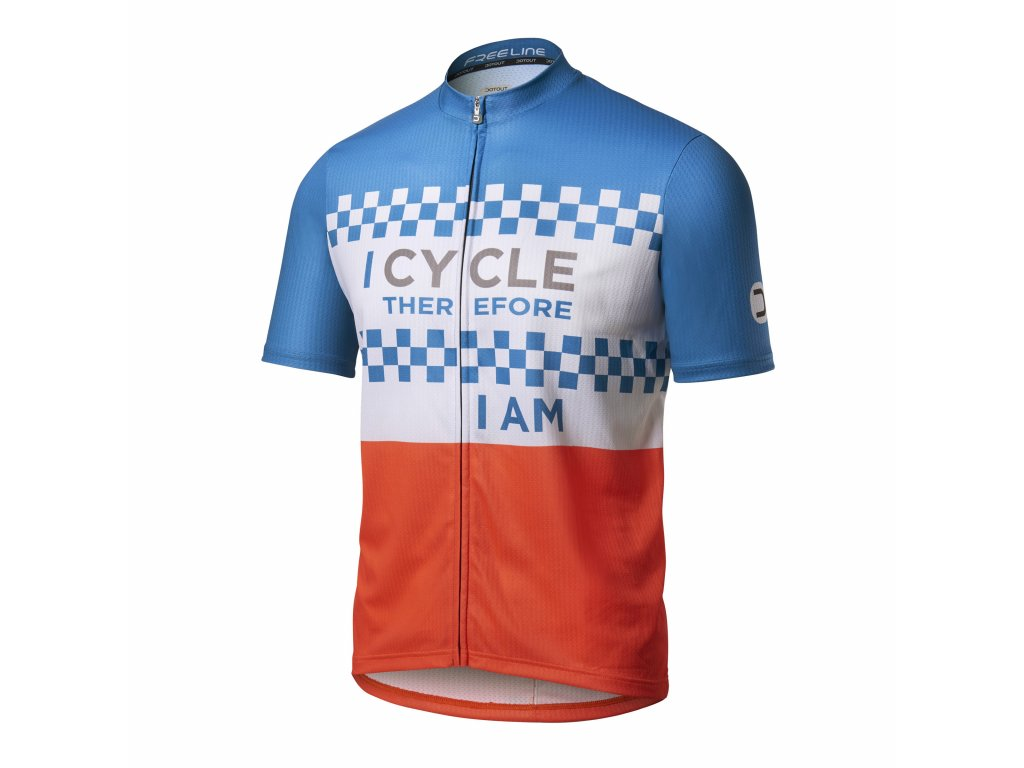 Cyklistický dres Dotout Hyper Jersey - blue