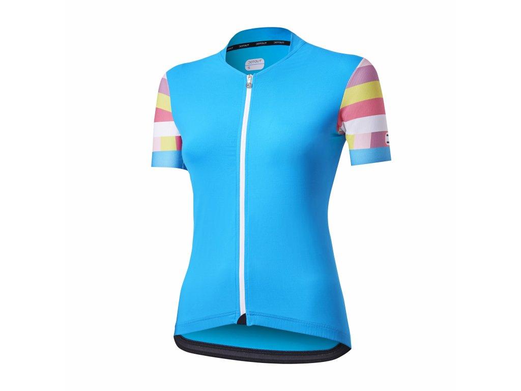 Dámský cyklistický dres Dotout Flag W Jersey - light blue