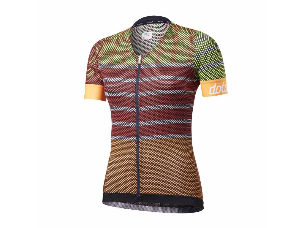 Dámský cyklistický dres Dotout Dots W Jersey - orange