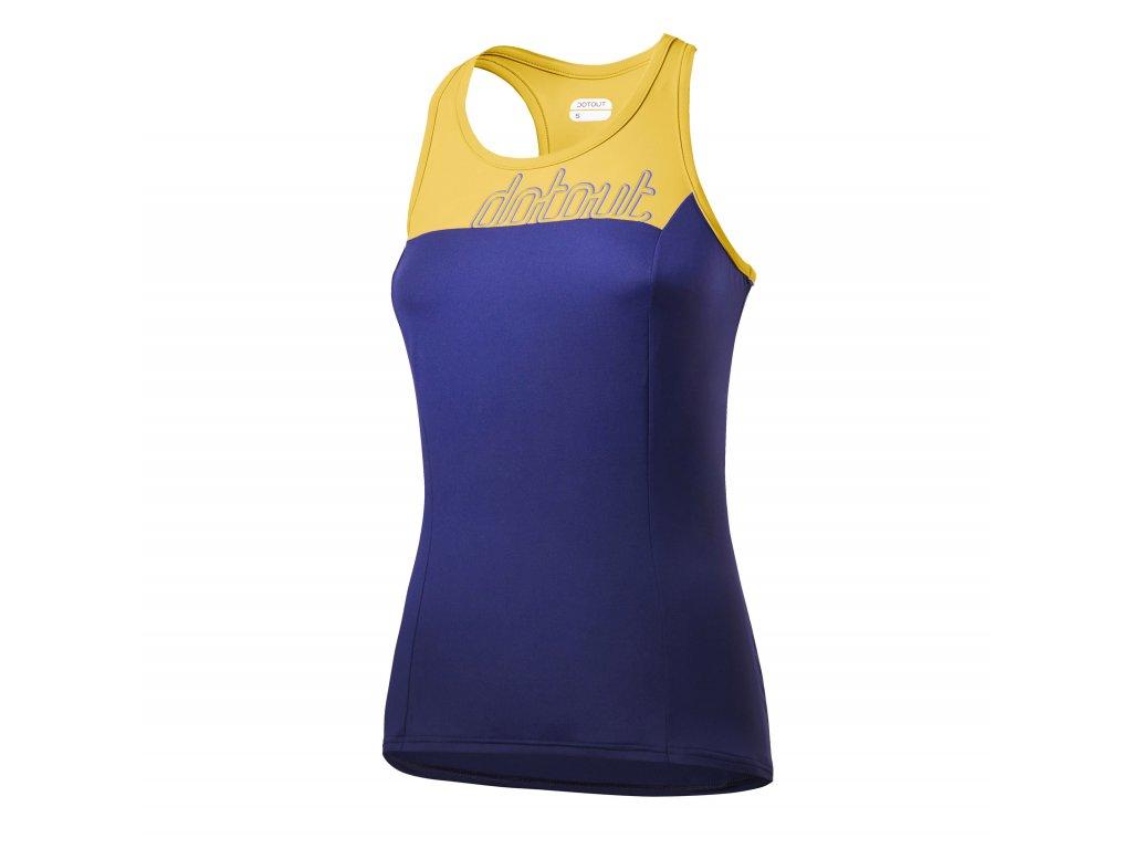 DOTOUT dámský dres Crew W Top yellow-deep blue