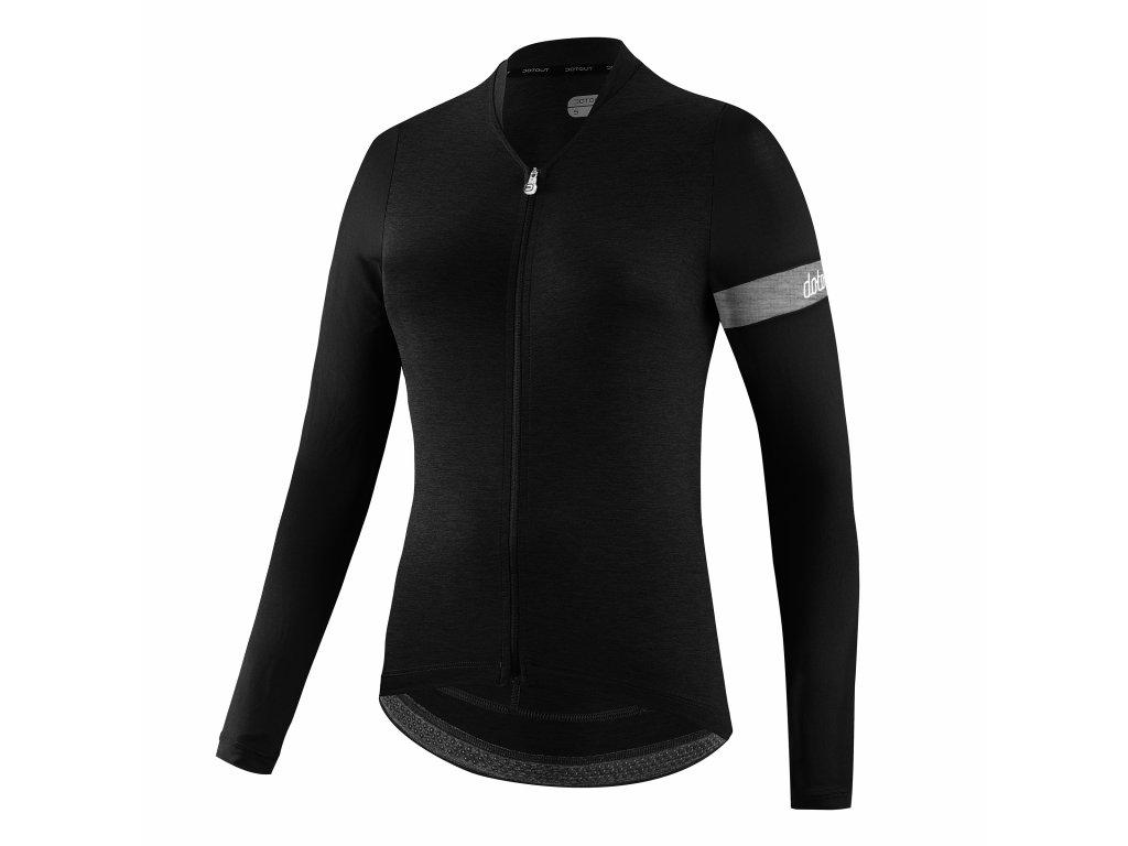 Dámský dres Dotout Block Long Sleeve W Jersey - black - L
