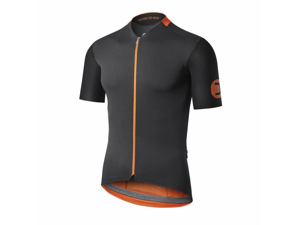 Cyklistický dres Dotout Ride - Black/orange