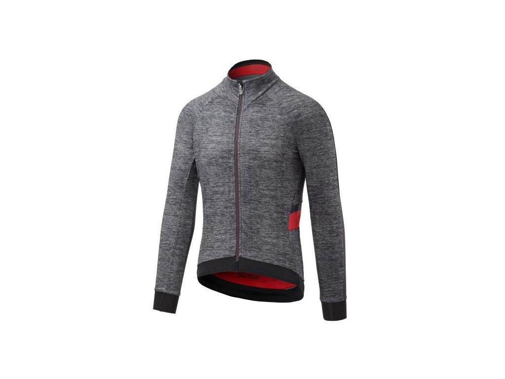 Cyklistická bunda  Dotout Le Maillot Jacket - melange grey/red - L
