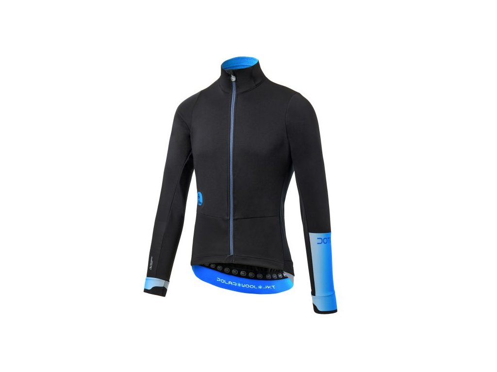 Zimní cyklistická bunda  Dotout Polar Wool Jacket - Black blue - L