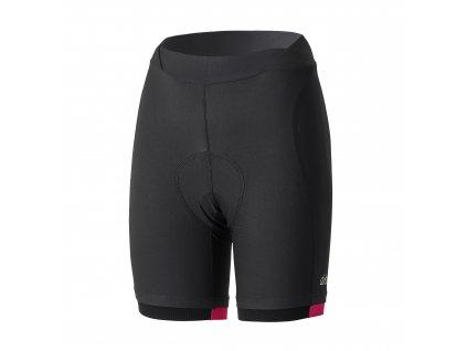 Dámské cyklistické kalhoty Dotout Instinct W Short - black/fuchsia